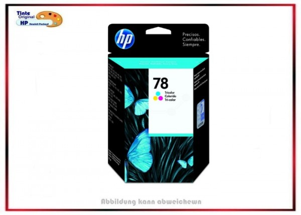 Nr.78 - C6578D HP Original Tintenpatrone Color - Inhalt 19 ml.
