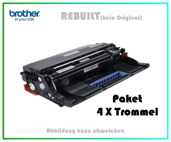 4er Set TONDR3400 Alternativ Trommel Black für Brother DR3400 - Inhalt 4 X 50.000 Seiten k. Original