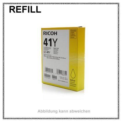 REFGC41Y Refill Tinte Gelkartusche Yellow für Ricoh - 405764 - Inhalt fuer ca. 2.200 Seiten