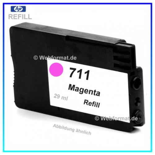 REF711 - Refill Tinte Magenta für Drucker HP Designjet T120 - T520 ePrinter, CZ131A, Inhalt ca. 29ml