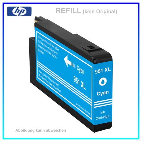 REF951CXL - 951CXL - Refill Tintenpatrone Cyan für HP - CN046AE - Inhalt ca. 26ml
