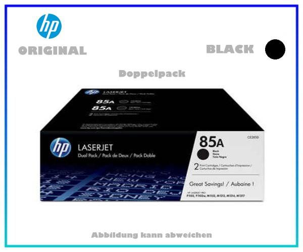 CE285AD - DOPPELPACK Black original HP Toner - CE285AD - Inhalt fuer je 1.800 Seiten.