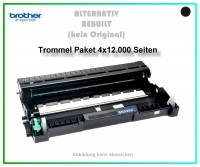 4er Set TONDR2220, DR-2220, TN 450, Alternativ Trommel Black f. Brother HL 2240, HL 2250, 4X12000 S.