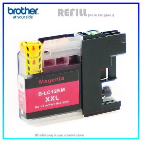 BULK LC12XXLM Alternativ Tintenpatrone Magenta Brother - LC12EM - MFC-J 6925 DW - Inhalt 1200 Seiten