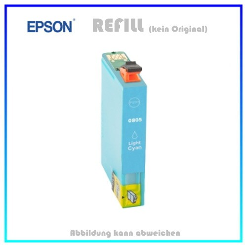 T0805 Epson Alternativ Tintenpatrone Light-Cyan - C13T08054010 - Inhalt ca. 15ml