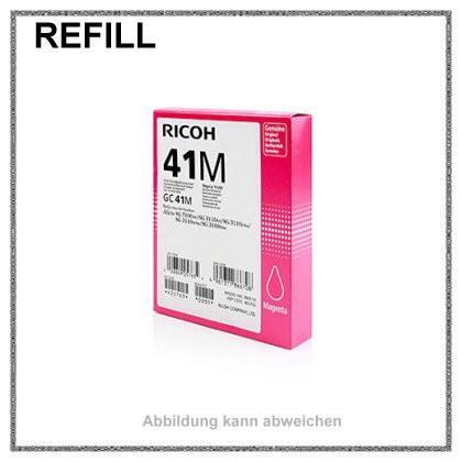 REFGC41M Refill Tinte Gelkartusche Magenta für Ricoh - 405763 - Inhalt fuer ca. 2.200 Seiten