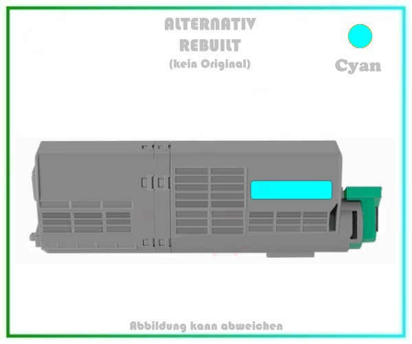 TONC532XXLC Alternativ Toner C532XXL Cyana für Oki - 46490607 - 6.000 Seiten