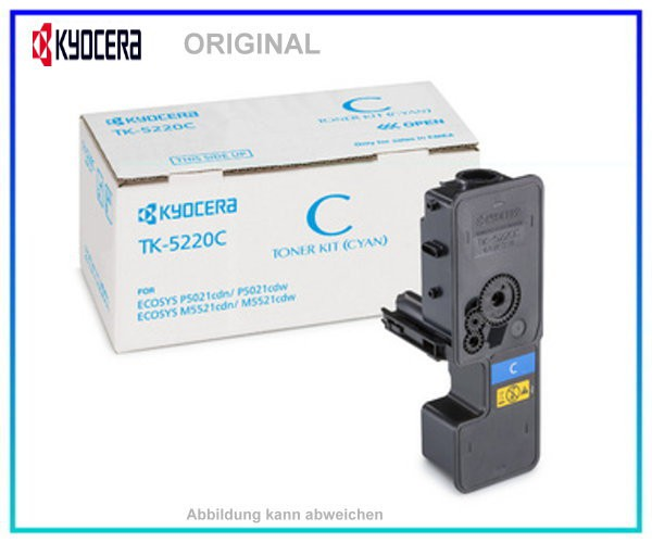 KYOCERA Toner Original Cyan TK-5220C - 1T02R9CNL1 - Inhalt: 1.200 Seiten
