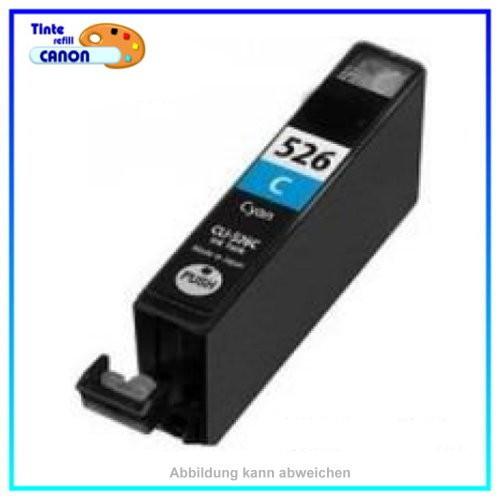 CLI526C Alternativ Cyan Tintenpatrone f. Canon 4541B001 IP 4820 MG6250 (Schachtel Verpackg.)