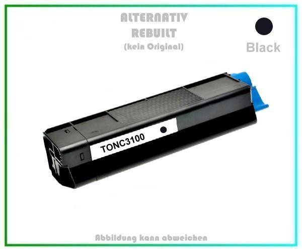 TONC3100 Alternativ Toner Black C3100, für OKI - 42804516 - Inhalt 4.500 Seiten