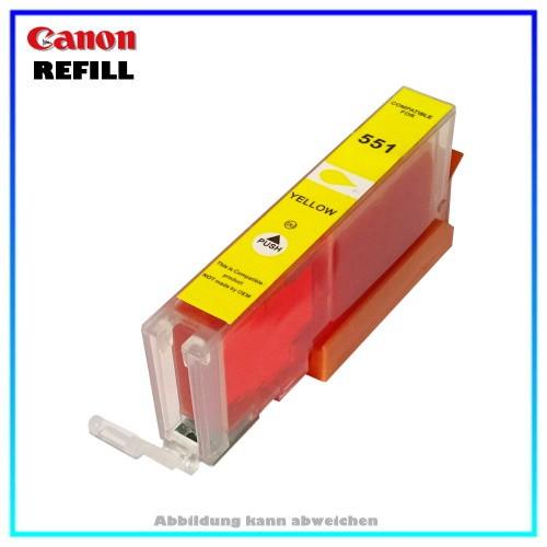 CLI551YXL Alternative Tintenpatrone Canon schmal Yellow - 6511B001 - Inhalt ca. 12,4ml, kein Origina