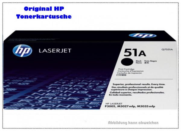Q7551A - Black original HP Toner fuer HP P3005/M - Q7551A - Inhalt fuer ca. 6.500 Seiten.
