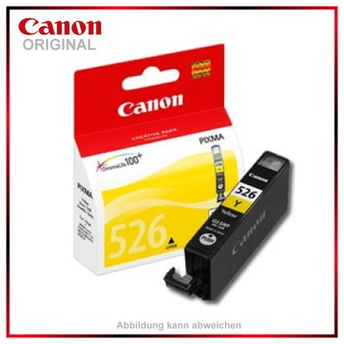 CLI526Y - 4543B001 - Yellow - original Tintenpatrone f. Canon PIXMA iP4850 - MG5150 - MG5250 - MG615
