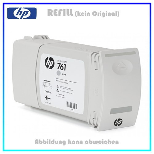 CM995A, 761, Refill Tintenpatrone Gray für HP CM995A, Designjet T7100 Plotter, Inhalt 400ml