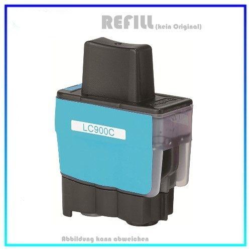 LC900C (Schachtel) Alternativ Tinte Cyan für Brother LC900C - Inhalt 16,6ml (PATENT SAFE)