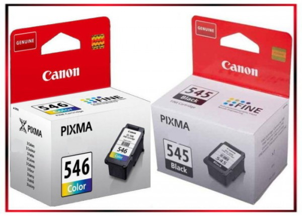 Multipack PG545/CL546, 8287B005 Original Black + Color Tinte Canon MG 2450, MG 2550, 2 x 180 Seiten