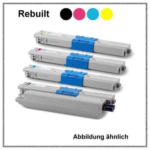 TONC321KIT, C321, Alternativ Toner Rainbowkit für Oki, 44973533-36, BK+C+M+Y - 3x2200, 1x1500 Seiten