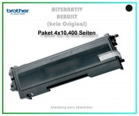 4er Set TONTN2220XXL, TN-2220XXL, TN 450, Alternativ Toner Black f. Brother HL 2240, 4 X 10400 Seite