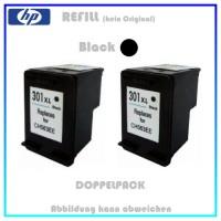 REF301BK XL Doppelpack Refilltintenpatrone 2x Black - HP CH563EE - passend für HP Deskjet 1000 u.a.
