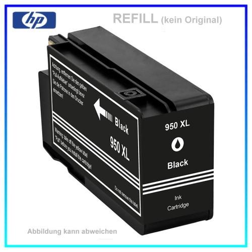 REF950BKXL - 950BKXL - Refill Tintenpatrone Black für HP - CN045AE - Inhalt ca. 73ml