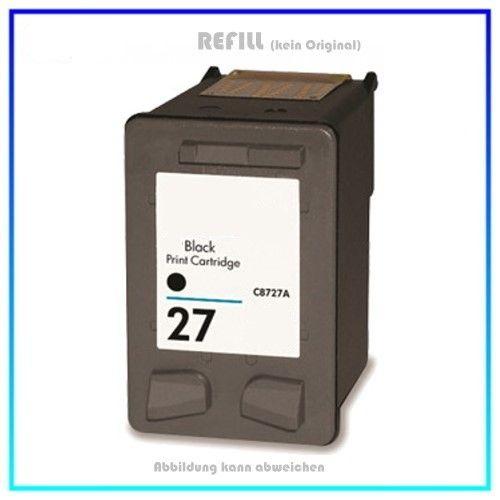 REF27A Refill Tintenpatrone HP Schwarz Nr. 27 - Inhalt ca. 20 ml - passend für C8727A - DJ3320 - 332