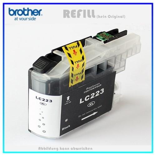 BULK LC223XLBK Alternativ Tintenpatrone Black für Brother LC223BK - Inhalt ca. 15ml