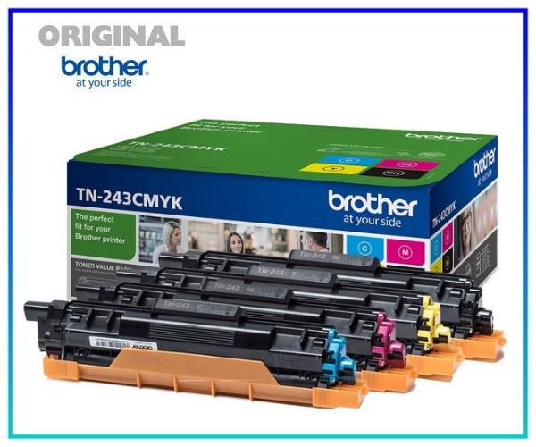 TN243CMYK, Original Brother TN243-CMYK Toner Black= 1.000 Seiten, CMY= je1.000 Seiten
