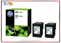 HP-301XLBK, D8J45AE, Doppelpack Original Tintenpatrone Black - D8J45AE - Inhalt: 2x 480 Seiten.