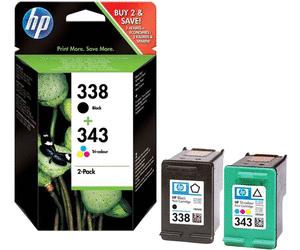 Kombipack Original HP Tintenpatrone Nr.338/343 - Black & Color - SD449EE - SD449E