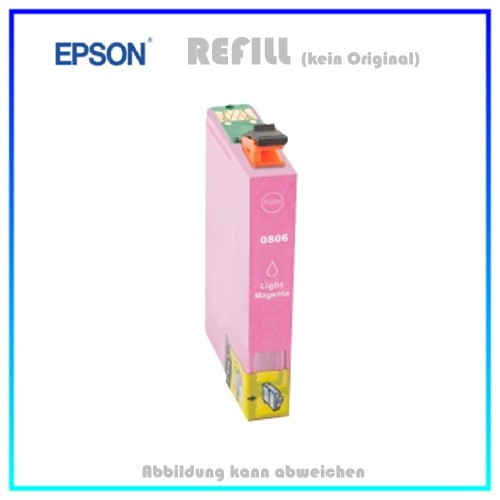 T0806 Epson Alternativ Tintenpatrone Light-Magenta - C13T08064010 - Inhalt ca. 15ml