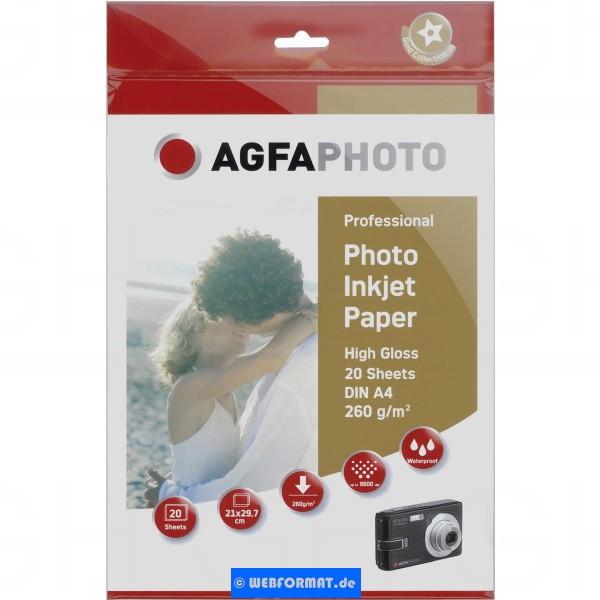 EOL (nicht mehr lieferbar) AgfaPhoto Professional Photo Paper 260 g A 4 20 Blatt