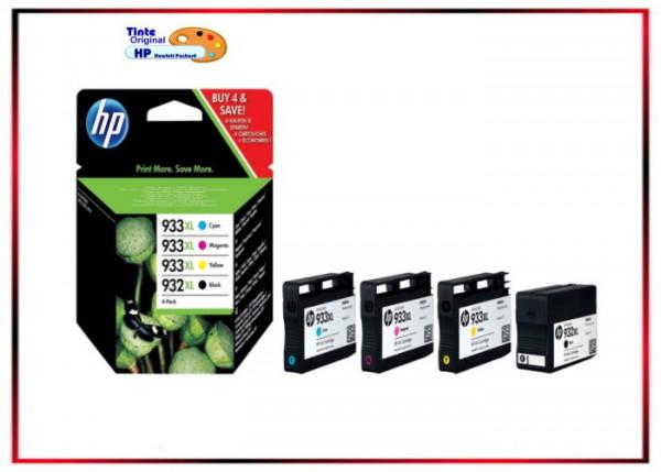 C2P42AE - Multipack Original HP 932XL + 933XL - (BK, C, M, Y - C2P42AE- BK=1.000S-CMY=je825S