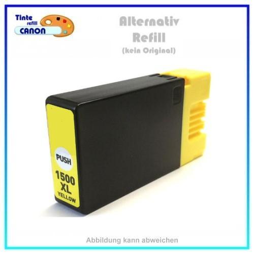 PGI1500XLY BULK Alternativ Tinte Yellow für Canon - 9195B001 - Inhalt ca. 16ml