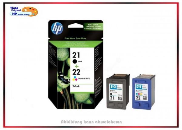 HP-21+HP-22, Doppelpack SD367AE, Black + Color, SD367AE - Inhalt 360 Seiten