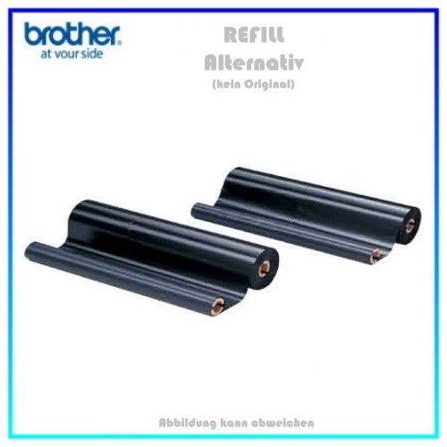 PC72RF Thermotransferrollen NEUTRAL Black f. Brother Fax - Inhalt 2 Stück pro Paket. T72,74,76,78,T7