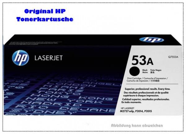 Q7553A - Black original HP Toner fuer HP P2015 - Q7553A - Inhalt fuer ca. 3.000 Seiten.
