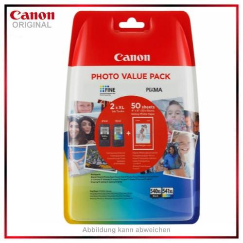 Canon 5222B013, PG540XL/CL541XL, Original Tintenpatrone Multipack, Inhalt 21ml-15ml, +50 Fotopapier