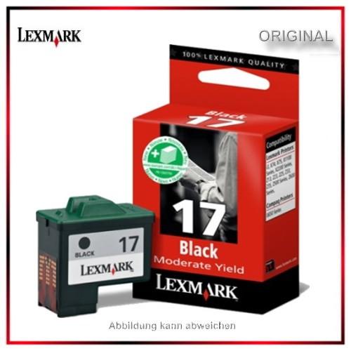 Nr.17 - 10nx217E - Original Lexmark Black Tintenpatrone für 10NX217E - 10nx217E