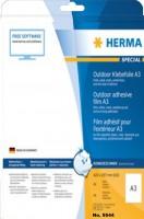 HERMA Outdoor Folien-Etiketten SPECIAL, 420 x 297 mm, weiß, DIN A3, matt, ohne Rand, Polyethylenfoli