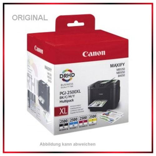 PGI2500XLCMYK - Canon Original PGI-2500 XL - 9254B004 - CMYK - Original Multipack BK/C/M/Y