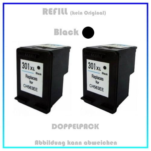HP-301BKXL, REF301BKXL Doppelpack Refilltintenpatrone 2x Black, 2x20ml, HP CH563EE, für HP Deskjet