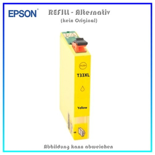 T33XLY Alternativ Tinte Yellow fuer Epson XP530 - XP630 - XP635 - XP830 - Inhalt ca. 14 ml (k. Orig