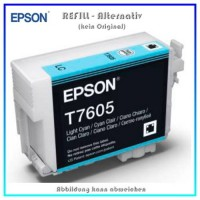 BULK T7605 Alternativ Tintenpatrone Light Cyan für Epson - C13T76054010 - Inhalt 32ml
