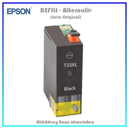 T33XLBK Alternativ Tinte Black C13T33514010 fuer Epson XP530 - XP630 - XP635 - XP830 - Inh ca. 22 ml
