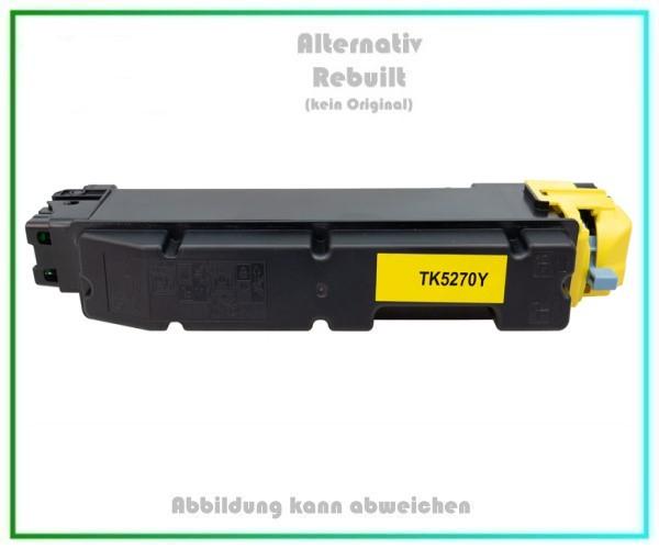 TONTK5270Y, TK5270Y, Alternativ Toner Yellow für Kyocera, Y=6.000 Seiten (kein Original)