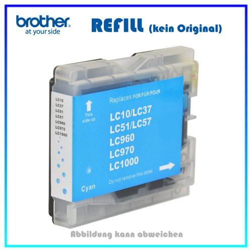 LC1000C (BULK) Tintenpatrone Cyan f. Brother - DCP 130C - 135C - 150C - 330C - 540CN - 750CW - FAX 1