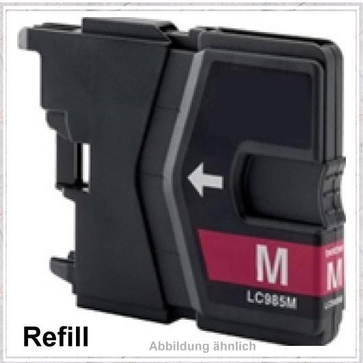 LC985M Alternativ Tinte Magenta für Brother - LC985M, Inhalt 20ml, kompatible Tintenpatrone DCP-J 1