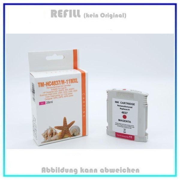 REFC4837, C4837A, HP-11, Farbe Magenta, Refill Tinte f. HP C4837, C4837A, Inh. 28 ml, k. Original.
