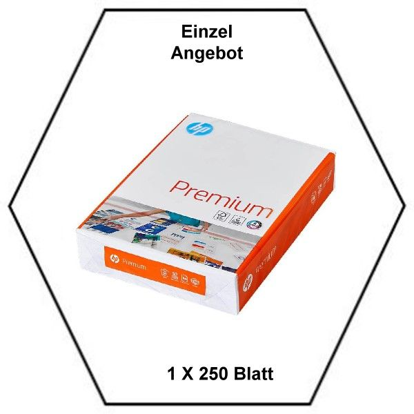 HP CHP853, Kopierpapier Premium A4, 90 g/qm, CIE-Wert (Weißegrad):170, Inhalt 250 Blatt