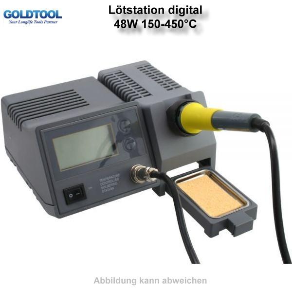 Lötstation digital, mit Soll- und Ist- Temperaturanzeige, 48W 150-450°C